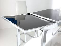 contemporary dining tables extendable image of awesome modern extendable dining table modrest barium modern extendable glass