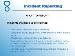 7 Incident Reporting