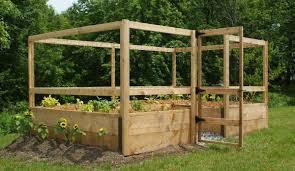 deer proof garden fence. 8\u0027x12\u2032 Just-Add-Lumber Vegetable Garden Kit \u2013 Deer Proof Fence
