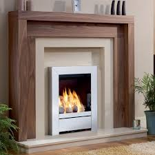 wood finish contemporary fireplace surrounds