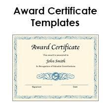 Microsoft Word Certificate Templates Blank award certificate template for Word Chose from several free 48