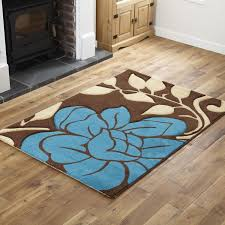 fl brown teal runner rug