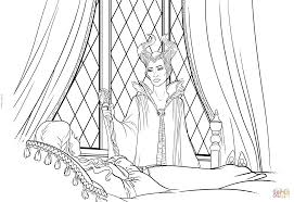 Small Picture Maleficent Apologizes to Aurora coloring page Free Printable
