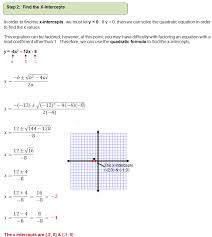 graphing quadratic equations example 2