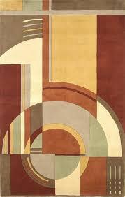 KAS Signature 9134 RustCoffee Art Deco Area Rug