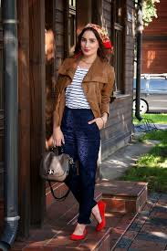 how to wear a red silk scarf with a brown leather jacket for women 3 looks outfits women s fashion lookastic uk