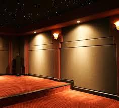 cinema fabric walls room