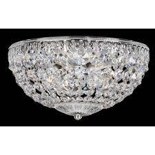 petit crystal silver four light clear spectra crystal flush mount light 10w x 5 5