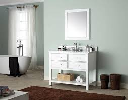 avanity brooks single 43 inch white vanity cabinet optional countertops