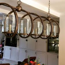 chandelier rectangular chandeliers rectangular chandelier brown iron with circle and 5 candle jpg