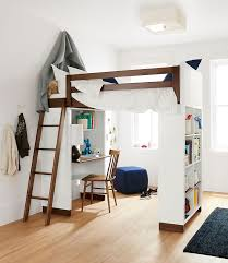 moda loft beds with desk and bookcase options kids rooms lofts and desks