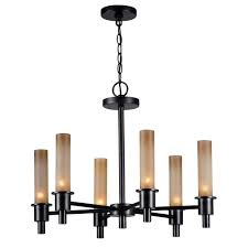 dunwoody 6 light oil rubbed bronze chandelier with tea stained glass shades