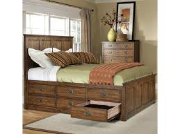bed frame with storage drawers. Modren Bed Intercon Oak ParkCalifornia King Bed With 12 Storage Drawers With Frame E