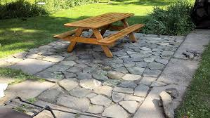 flagstone patio with grass. Brilliant Diy Flagstone Patio Ideas How To Build A In 3 Days With Grass T