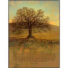 Bonnie Mohr Living Life Quote Simple Today Print Art Featuring Oak Tree With A Quote By Inspirational