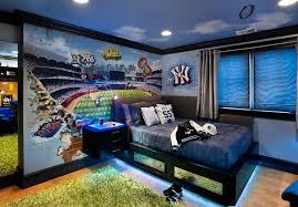 Cute And Colorful Little Boy Bedroom Ideas : Sport Themed Yankies Boys Room  Blue