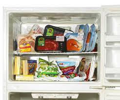 fridge filled with food. freezer fridge filled with food e
