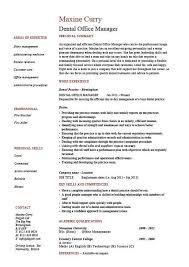 Dental Office Manager Resume 10 Dental Resume Example Sample