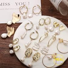 17KM <b>Vintage</b> Gold Drop Earrings For Women <b>2019</b> Brincos ...