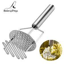 kitchen utensils stainless steel potato ricer manual potato masher crusher double food presser puree salad fruit