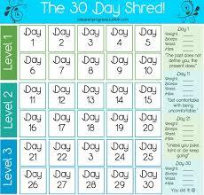 30 Day Printable Calendar Myfitnesspal Com