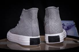 converse alligator light grey leather limited edition high tops shoes womens