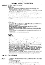 Pilot Resume Examples INL Pilot Resume Samples Velvet Jobs 11