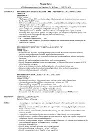 Sample Cardiac Nurse Resume Registered Nurse Care Unit Resume Samples Velvet Jobs