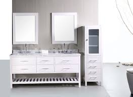 Bathroom White Vanities Adorna 72 Inch Double Sink Bathroom Vanity Set In Pearl White
