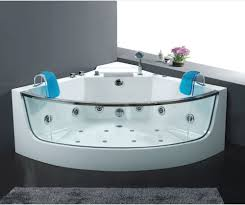 ... Bathtubs Idea, Spa Bathtubs 2 Person Jacuzzi Tub Glass Freestanding  Corner Whirpool Jacuzzi With Acrylic ...