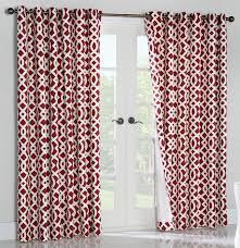 trellis 2 pack thermal cotton grommet top curtain panels window