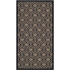 safavieh courtyard brown indoor outdoor rug 2 7