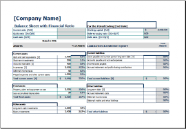 Balance sheet template excel efficient likeness 10 – ideastocker