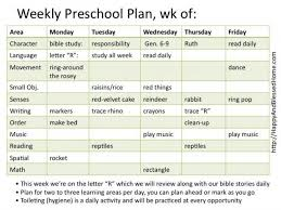 Sample Weekly Lesson Plan Delectable Montessori Preschool With Montessori Planning Charts Prek