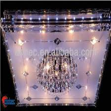 china led crystal ceiling light hotel chandeliers big square crystal chandelier light