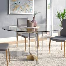 inspiration round glass dining table willa arlo interior gostum wayfair ca set and chair for 6 ikea room 4 canada with wooden leg