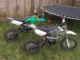 2x 110cc pitbikes ideal projects pit bike dirt bike off road quad