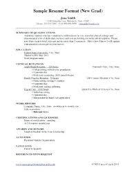Graduate Nurse Resume Samples Recent Graduate Nursing Resume