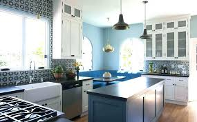black slate countertop color colorful wallpaper accent white wooden cabinet set gray painted island black slate black slate countertop