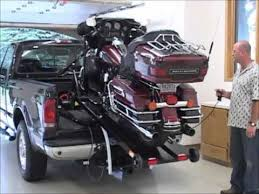 motorcycle lift and loader - YouTube