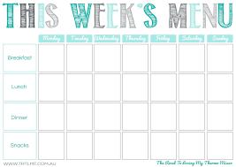 Food Plan Template Template Camping Meal Plan Template This Weeks Menu 2 Printable