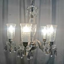 1920 s crystal 5 arm chandelier
