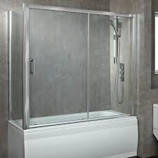 Glass Enclosed Showers phoenix 8mm glass sliding over bath enclosed shower screen 1700mm 6132 by xevi.us