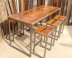 cheap reclaimed wood furniture. amazing 20 off sale custom outdoor indoor rustic reclaimed wood bar regarding high table with stools ordinary cheap furniture
