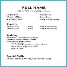 Child Actor Resume Format Sample Breakdance Resume Dance Resume