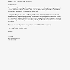 screenshot of a follow up email letter exle