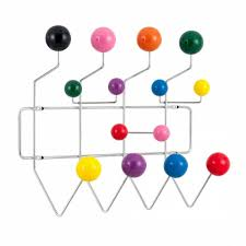 Coloured Ball Coat Rack Unique Chrome Eames Hang It All With Multicoloured Balls Cult Furniture