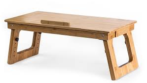 eco friendly bamboo sitting to standing desk converter with adjule height for laptops or desktop monitors