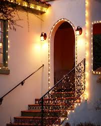 outdoor holiday lighting ideas architecture. Christmas Lights On Mission Style Home, Nontraditional Holiday Decor, Gardenista Outdoor Lighting Ideas Architecture
