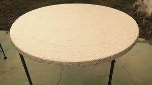 new elastic edge round fitted vinyl tablecloth cover 36 to 46 mosaic gold